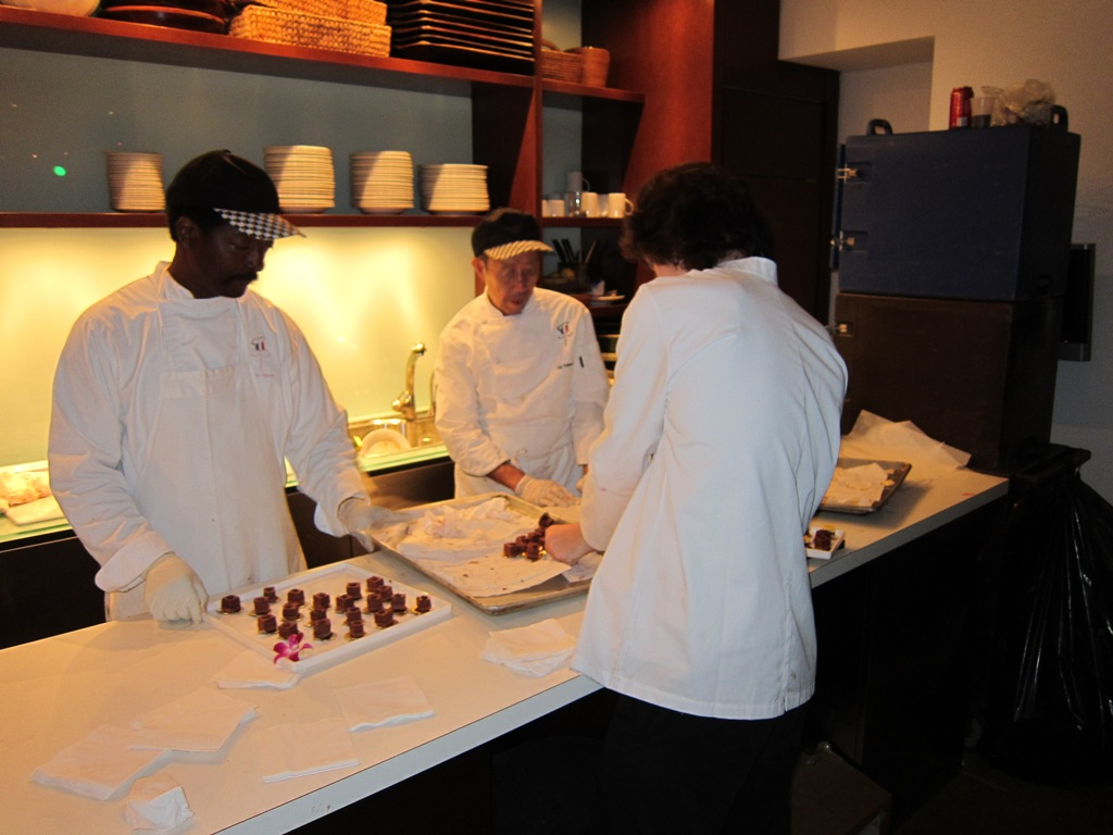 The culinary staff worked hard to bring the good eats!