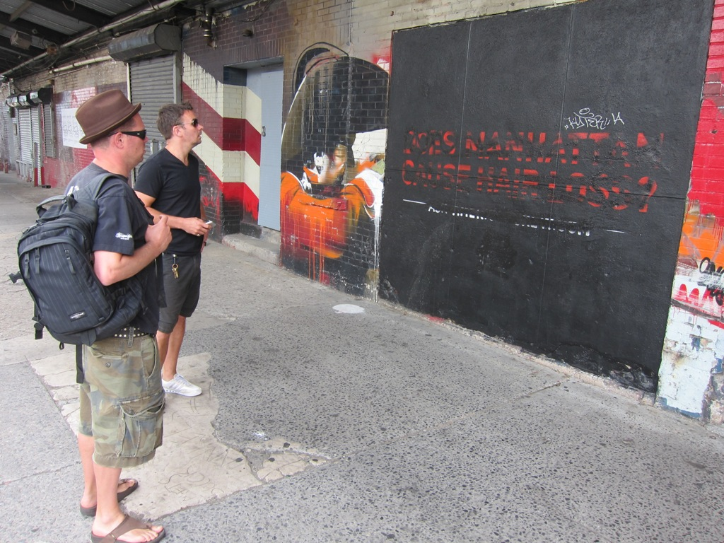 What is this junk covering the Conor Harrington Mural!?