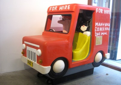 """'Privatised Pat'. 2011. """"The Times They Are a-Changin' for Postman Pat."""""""