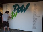 Flying Fortress painting POW WOW logo.
