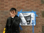 Liu Bolin shows us his grey steel taken by JR...